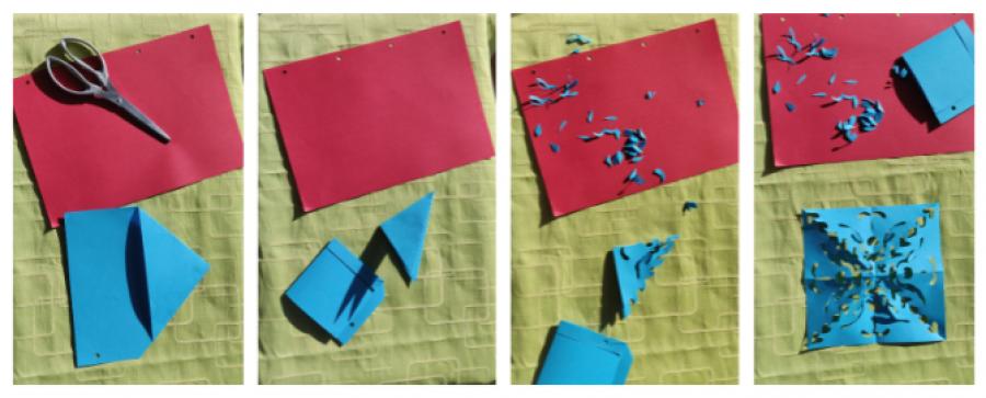 papir der bliver klippet til et gækkebrev